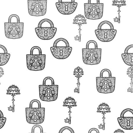 Elegantes Vintage-Lock-Design.