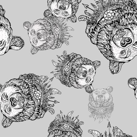 Bärenkopfmuster