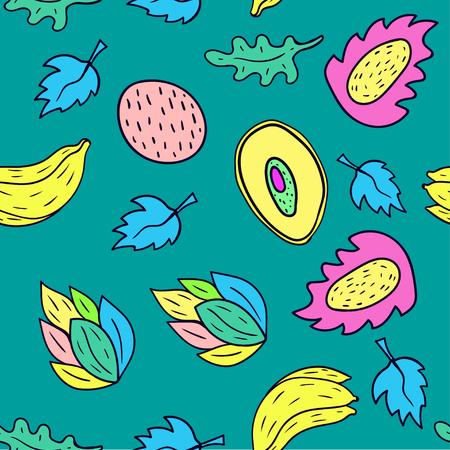 Fruit Cartoon nahtlose Muster Hintergrund Illustration
