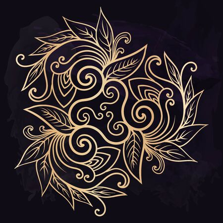 Beautiful mehndi design element. Henna temporary flash tattoo. Traditional ethnic indian style tribal ornaments. Adult color book creative paisley doodles vector collection.
