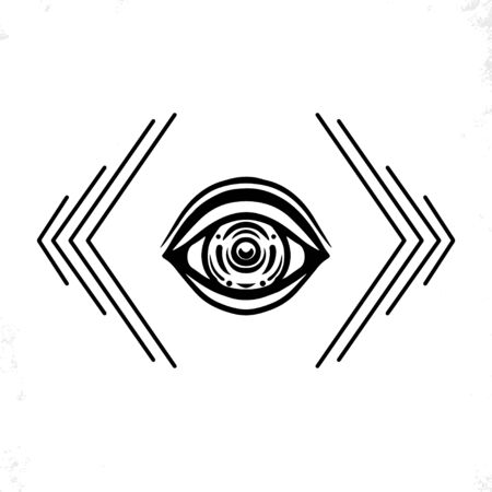 Hand drawn eye. Doodle style. The third eye vector illustration.