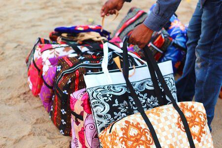 colorful bag at sea beach