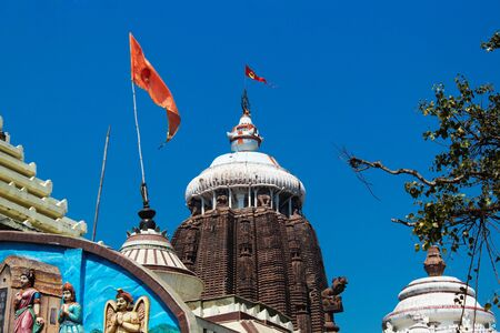 Close up view of Sri jagannath temple Puri nad side temple with blue sky attractive location historical place
