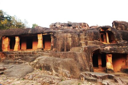 cave of udaygiri historical place at orissa india