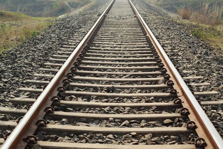Railway Track passed the rural area