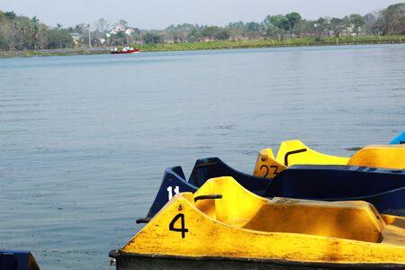 boat in the dam