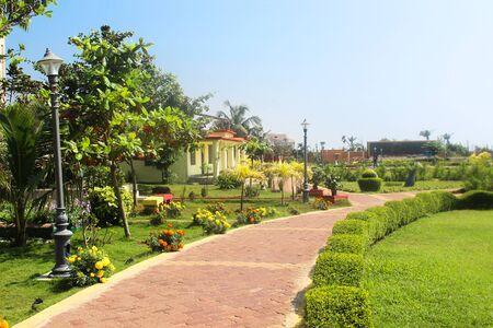 Mahatma Gandhi patk ata puri inner view beautiful clean and green Фото со стока