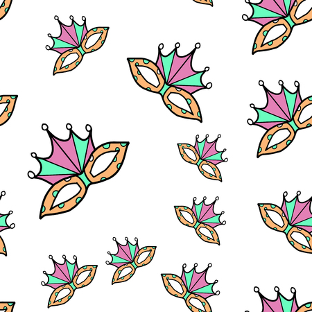 Carnival party seamless pattern Çizim