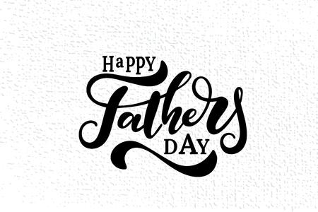 Szczęśliwy ojciec dzień napis tło wektor.