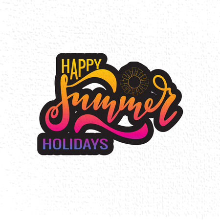 Vector illustration of Happy Summer Holidays with the inscription for packing product