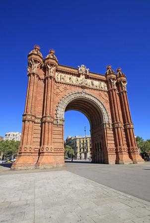 catalunya: Arc de Triomf, Barcelona, Catalunya, Spain Editorial
