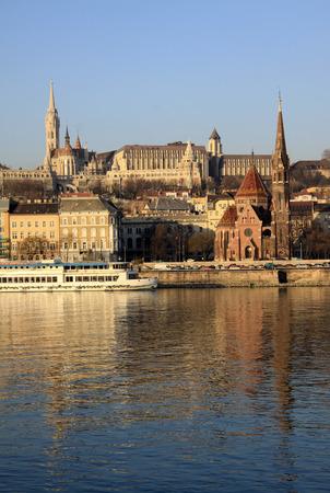 buda: View on Buda bank of Budapest, Hungary Editorial