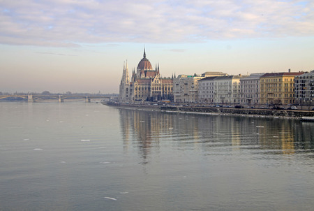 hungarian: View on the Hungarian Parliament Building, Budapest, Hungary