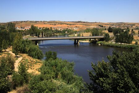 the tagus: Tagus river in Toledo, Spain