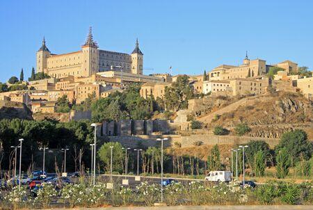 toledo town: Toledo, Spain old town at the Alcazar.