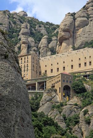 benedictine: Benedictine abbey Santa Maria de Montserrat in Monistrol de Montserrat, Spain
