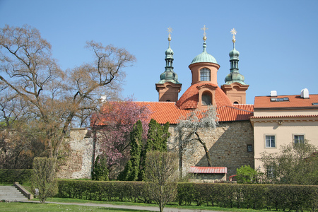 lawrence: Cathedral church of Saint Lawrence on Petrin Hill in Prague, Czech Republic