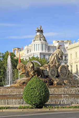 cibeles: Cibeles fountain at Madrid, Spain