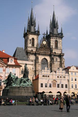 tyn: Church of Our Lady before Tyn, Prague, Czech Republic Editorial