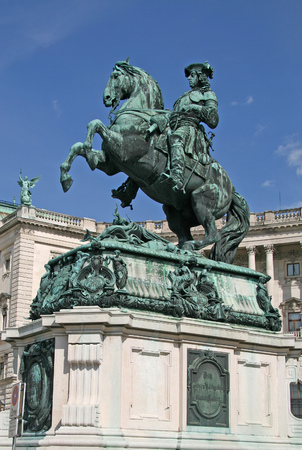 eugene: Statue of Prince Eugene in front of Hofburg Palace, Vienna, Austria Editorial
