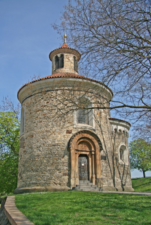 oldest: Oldest Rotunda of St. Martin in Vysehrad, Prague, Czech Republic Stock Photo