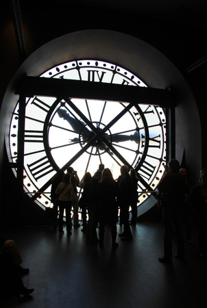 muse: The clock at the Orsay Museum Muse dOrsay, Paris, France