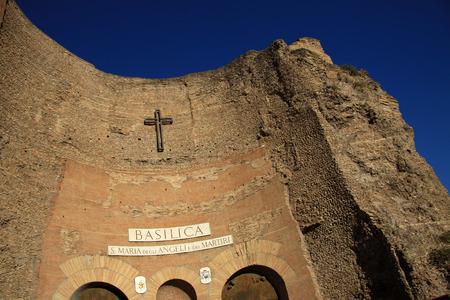 angeli: ROME, ITALY -  Basilica Santa Maria degli Angeli e dei Martiri