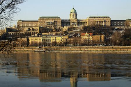 buda: View on Buda castle of Budapest, Hungary Editorial
