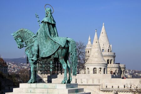 st: Statue of St Matthias, Budapest, Hungary