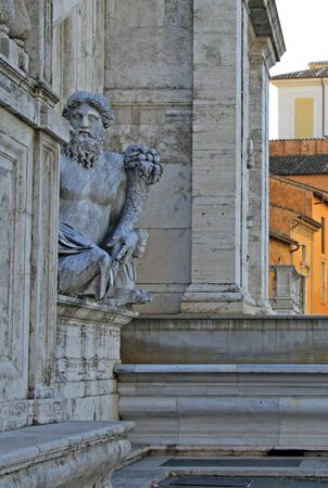 allegory: Ancient Roman allegory of Nile River. Capitoline Hill, Rome, Italy