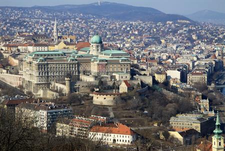 hungary: View to Buda Castle, Budapest, Hungary