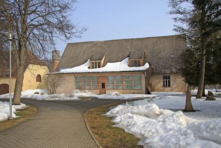 outbuilding: SIGULDA, LATVIA - MARCH 17, 2012: Sigulda Castle outhouse