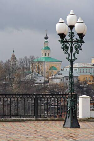 vladimir: VLADIMIR, RUSSIA - APRIL 18, 2009: Georgievskaya church, 18th century. View from observation deck