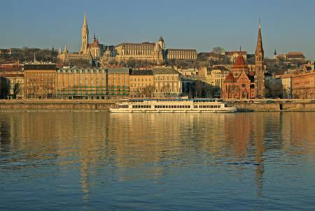 buda: View on Buda bank of Budapest, Hungary Stock Photo