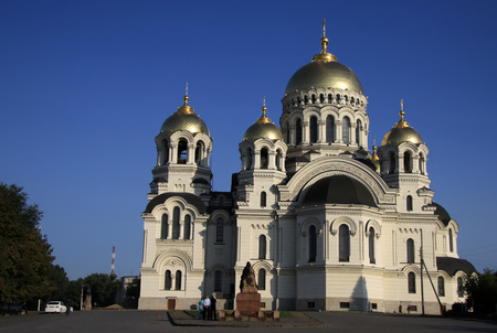 dont drink and drive: NOVOCHERKASSK, RUSSIA - SEPTEMBER 17, 2011: The Ascension Cathedral in Novocherkassk, Rostov Oblast, Russia