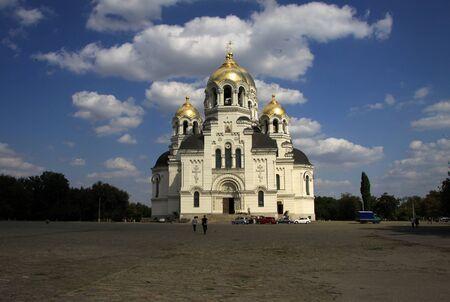 ascension: NOVOCHERKASSK, RUSSIA - SEPTEMBER 17, 2011: The Ascension Cathedral in Novocherkassk, Rostov Oblast, Russia