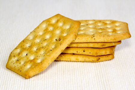 Closeup shot of crackers on a light background Stock Photo - 15481511