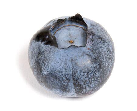 Fresh blueberry isolated on white background closeup Фото со стока