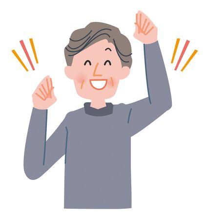 Old men illustration Stock Photo