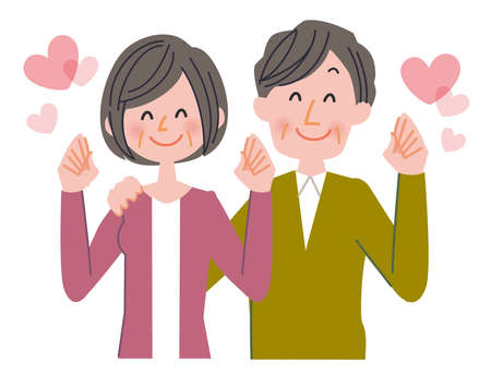 heartwarming: Husband and wife Stock Photo