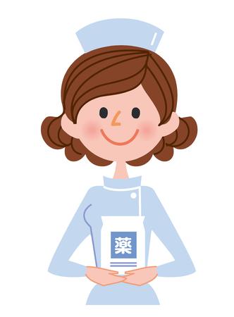 Women nurse illustration Stock Photo