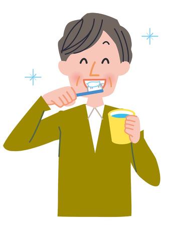 Le brossage des dents  Banque d'images - 77222390
