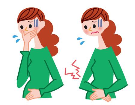女性の病気のイラスト 写真素材