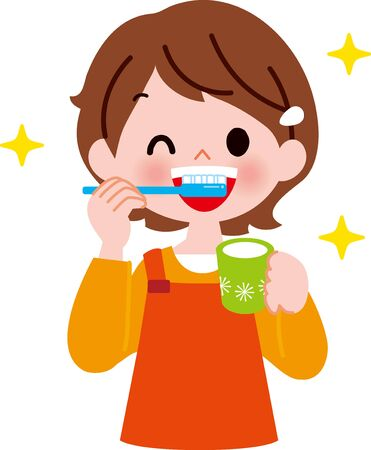 A girl with teething