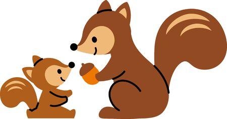 Squirrel Parent and Child