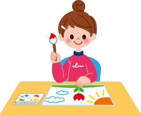 A child who draws a picture Zdjęcie Seryjne