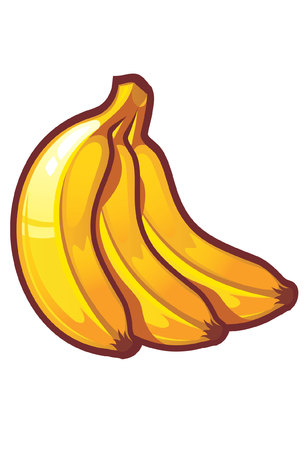 grocer: A vector stylized bananas