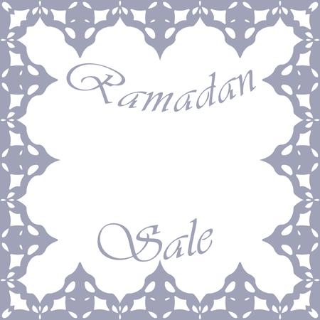Design element for sale in Ramadan vector frame 矢量图像