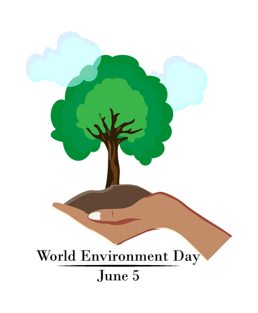 World environment day concept, hand holds a tree