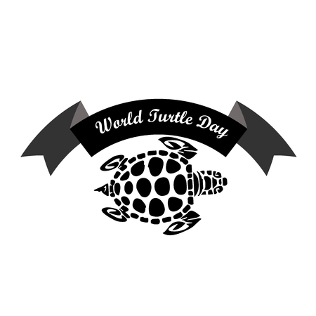 Concept on the World Turtles Day, May 23, vector